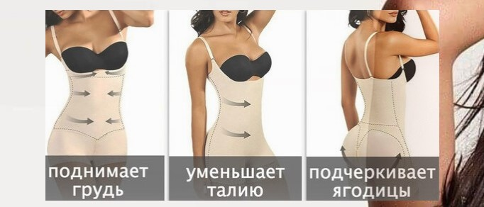 Конструкция Комбидресс Slim Shapewear