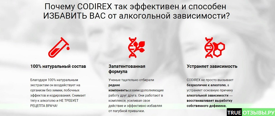 Codirex преимущества